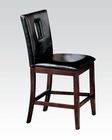 Black Finish Counter Height Chair Baldwin by Acme AC16775 (Set of 2)