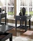 Black Finish End Table Element by Somerton SO-621-02
