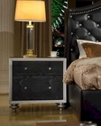 Black Finish Nightstand MCFB1701-N