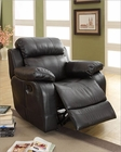 Black Glider Reclining Chair Marille by Homelegance EL-9724BLK-1