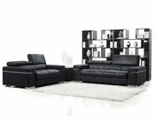 Black Italian Design Modern Sofa Set 44L6101