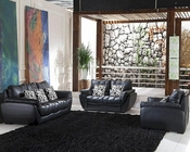 Black Leather Sofa Set 44L2902