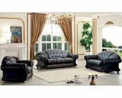 Black Living Room Set in Classic Style Versace ESFVESET