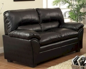 Black Loveseat Talon by Homelegance EL-8511BK-2