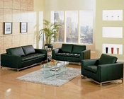 Black Modern Design Leather Sofa Set 44L1048B