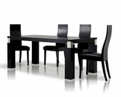 Black Oak Dining Set in Contemporary Style 44D616-2SET