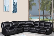 Black Sectional 3 pc Sofa Set MF-2016L