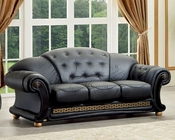 Black Sofa in Classic Style Versace ESFVES
