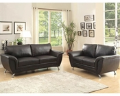 Black Sofa Set Chaska by Homelegance EL-8523BLK-SET