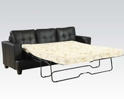 Black Sofa w/ Queen Sleeper Platinum by Acme Furniture AC15061B