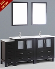 Bosconi 72in Double Integrated Sink Vanity BOAB230U1S