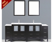 Bosconi 84in Double Integrated Sink Vanity BOAB230U2S