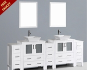 Bosconi 96in Glossy White Double Vanity Set BOAW230S3S