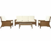 Brook Outdoor Sofa Set in Oat White by Modway MY-EEI971OW