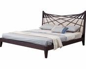 Brown/ Beige Bonded Leather Bed in Contemporary Style 44B103BD