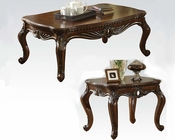 Brown Cherry Coffee Table Set Remington by Acme AC80064SET