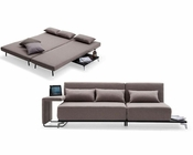 Brown Fabric Sofa Bed in Contemporary Style 44L5986