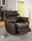 Brown Finish Reclining Chair Marille by Homelegance EL-9724BRW-1