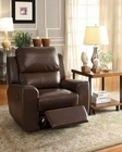 Brown Glider Reclining Chair Gannet by Homelegance EL-8529BRW-1