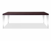 Brown Oak Dining Table in Modern Style 44D539T