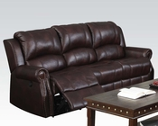 Brown Polished Microfiber Sofa Josef by Acme AC50775