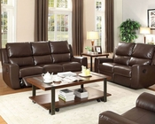 Brown Reclining Sofa Set Gannet by Homelegance EL-8529BRW-SET