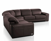 Brown Sectional Sofa in Contemporary Style 44LDIR-SECT