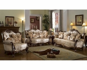 Brown Sofa Set in Traditional Style MCFSF8700