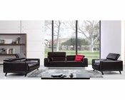 Brustle Modern Italian Leather Sofa Set 44L5506