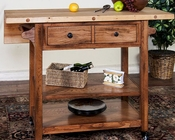 Butcher Block Table w/ Drop Leaf by Sunny Designs SU-2238RO