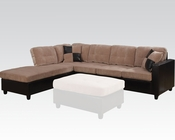 Camel Finish Reversible Sectional Sofa Milano by Acme AC51230