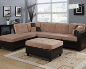 Camel Finish Sectional Sofa Set Milano by Acme AC51230SET