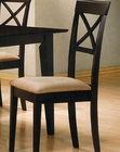 Cappuccino Cross Back Dining Side Chair CO-100774 (Set of 2)