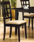 Cappuccino Wheat Back Dining Side Chair CO-100772 (Set of 2)
