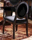 Caprice Black Finish Side Chair 44DAA030B (Set of 2)