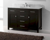 Caroline Espresso 48in Bathroom Vanity by Virtu USA VU-MS-2048-CAB-ES