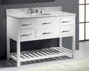Caroline Estate White 48in Vanity by Virtu USA VU-MS-2248-CAB-WH