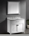 Caroline White Single Bathroom Set by Virtu USA VU-MS-2036-WM-WH