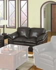 Casual Full Leather Loveseat MO-OLDL