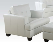 Chair Platinum White by Acme Furniture AC15097B