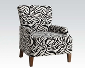 Chenille Zebra Fabric Accent Chair by Acme Furniture AC59187