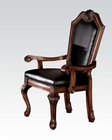 Cherry Arm Chair Chateau De Ville by Acme AC10039 (Set of 2)