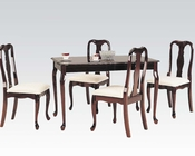 Cherry Finish Dining Set Queen Anne by Acme AC06004SET