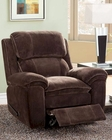 Chocolate Color Reclining Chair Reilly by Homelegance EL-9766FC-1