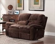 Chocolate Color Reclining Loveseat Reilly by Homelegance EL-9766FC-2