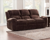 Chocolate Color Reclining Sofa Reilly by Homelegance EL-9766FC-3