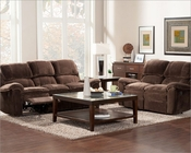 Chocolate Color Reclining Sofa Set Reilly by Homelegance EL-9766FC-SET
