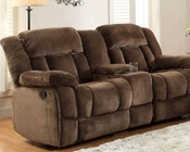 Chocolate Double Glider Reclining Loveseat Laurelton by Homelegance EL-9636-2