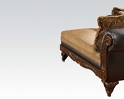 Chocolate Finish Chaise w/ 2 Pillows Fairfax by Acme Furniture AC50342