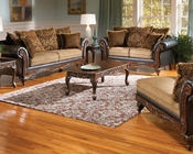 Chocolate Finish Sofa Set Fairfax by Acme Furniture AC50340SET